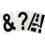 Brady Toughstripe 121907 Negro Poliéster Kit de etiqueta de puntuación - Interior - Ancho 6 pulg. - Altura 8 pulg. - B-514
