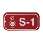 Brady 105649 Blanco sobre rojo Poliestireno Etiqueta de fuente de energía - Ancho 3 pulg. - Altura 1 1/2 pulg. - B-401