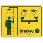 Bradley Señalamiento para estacion de lava ojos - Inglés - 114-052