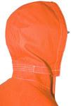 Ansell AlphaTec 66-684 Naranja fluorescente Universal CPC trilaminado de poliéster Reutilizable Capucha resistente a productos químicos - Capucha desmontable - 076490-12755