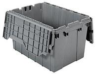 Akro-mils Keepbox 12 gal 65 lb Gris Polímero de grado industrial Contenedor de tapa adjunto - longitud 21 1/2 in - Ancho 15 in - Altura 12 1/2 in - 39120 GREY