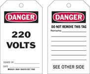 Brady 86481 Negro/Rojo sobre blanco Poliéster/papel Etiqueta de seguridad del equipo - Ancho 4 pulg. - Altura 7 pulg. - B-837