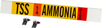 Brady 59938 Poliéster Amoníaco Marcador de tubería con correa - B-681, B-883