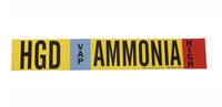 Brady 59924 Poliéster Amoníaco Marcador de tubería con correa - B-681, B-883