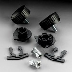3M L-Series L-141 Negro Ensamblaje de careta - 051131-37016