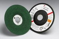 3M Green Corps Cerámico Rueda esmeriladora de superficie - 36 grano Muy áspero grado - Accesorio Eje - Diámetro 4 1/2 in - Agujero Central 7/8 in - Grosor 1/8 in - 50440