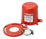 Brady Rojo Polipropileno Bloqueo de válvula de tapón 113233 - 754473-17666