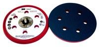 3M Stikit 20454 Duro Rojo PSA Almohadilla de disco - 6 in diámetro - 3/8 in Grosor