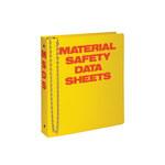 Brady Rojo sobre amarillo Carpeta de hojas de datos GHS y MSDS - MATERIAL SAFETY DATA SHEETS - Inglés - 754476-45989