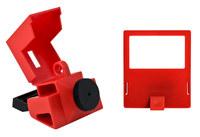 Brady Rojo Polipropileno Dispositivo de bloqueo de disyuntor 65397 - Ancho 2.175 pulg. - Altura 1.588 pulg. - 754476-65397