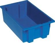Quantum Storage 0.5 ft³, 3.7 gal Azul Polímero de grado industrial Contenedor apilable - longitud 18 in - Ancho 11 in - Altura 6 in - 03885