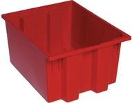Quantum Storage 1.2 ft³ Rojo Polímero de grado industrial Contenedor apilable - longitud 19 1/2 in - Ancho 15 1/2 in - Altura 10 in - 03901