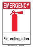Brady B-555 Aluminio Rectángulo Cartel de seguridad contra incendios - 7 pulg. Ancho x 10 pulg. Altura - 119236