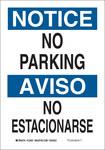 Brady B-555 Aluminio Rectángulo Cartel de información, restricción y permiso de estacionamiento Blanco - 7 pulg. Ancho x 10 pulg. Altura - Idioma Inglés/Español - 125049