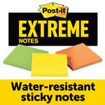 3M Post-it Extreme Variado Bloc de notas - longitud total 3 pulg. - Ancho 3 pulg. - Hojas 135 - 07572