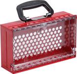 Brady SlimView Rojo Acero Caja de bloqueo grupal 150505 - Altura 10.125 pulg. - Capacidad de Candado 12 - 754473-61540