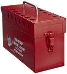 Honeywell Rojo Acero Caja de bloqueo grupal - Capacidad de Candado 13 - HONEYWELL GLB03/E