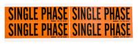 Brady 44229 Negro sobre naranja Rectángulo Paño de vinilo Marcador de conductos/voltaje - Altura 1 1/8 pulg. - B-498