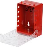 Brady Ultracompacto Rojo Caja de bloqueo - Ancho 4 pulg. - Altura 5.7 pulg. - Capacidad de Candado 12, 6 almacenados - 754473-58893