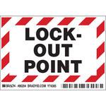 Brady 86204 Negro/Rojo sobre blanco Rectángulo Poliéster Etiqueta de bloqueo/etiquetado - Altura 3 1/2 pulg. - B-302