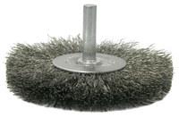 Weiler Acero Cepillo de cerdas radiales - Diámetro de la cerda 0.008 pulg. - 17964