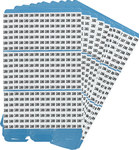 Brady Porta-Pack PWM-180-189 Paño de vinilo Kit de etiquetas de números - Interior/exterior - B-500