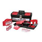 Brady Negro sobre rojo Kit de bloqueo/etiquetado - 754476-03475