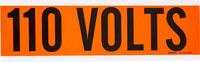 Brady 44101 Negro sobre naranja Rectángulo Paño de vinilo Marcador de conductos/voltaje - Altura 2 1/4 pulg. - B-498