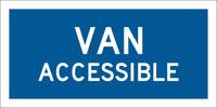 Brady Aluminio Rectángulo Señal de acceso al edificio y aparcamiento deshabilitado Azul - 8 pulg. Ancho x 12 pulg. Altura - 103751