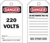 Brady 86420 Negro/Rojo sobre blanco Poliéster/papel Etiqueta de seguridad del equipo - Ancho 3 pulg. - Altura 5 3/4 pulg. - B-837