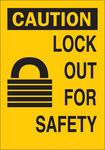 Brady B-401 Poliestireno Rectángulo Cartel de bloqueo Amarillo - 10 pulg. Ancho x 14 pulg. Altura - 22910