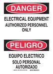 Brady B-401 Poliestireno Rectángulo Cartel de seguridad eléctrica Blanco - 14 pulg. Ancho x 10 pulg. Altura - Idioma Inglés/Español - 38729