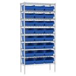 Akro-mils Ajustable Azul Cromo Acero Abierto Ajustable Estantería de alambre - 24 - AWS143630010 BLUE