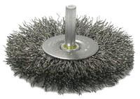 Weiler Acero Cepillo de cerdas radiales - Diámetro de la cerda 0.008 pulg. - 17968