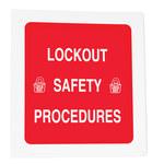 Brady Carpeta de capacitación de bloqueo/etiquetado - Título de capacitación = Procedimiento de seguridad de bloqueo - 754476-45631