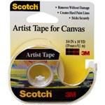 3M Scotch FA2010 Cinta para artistas Beige - 3/4 pulg. Ancho x 10 yd Longitud - 93608