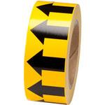 Brady 91420 Negro sobre amarillo Cinta de flecha de flujo direccional - Ancho 2 pulg. - Longitud 30 yd - B-946