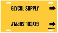 Brady 4190-F Negro sobre amarillo Plástico Otros líquidos Marcador de tubería con correa con Flecha Derecha - B-915