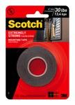 3M Scotch 414P Cinta de montaje de espuma Negro - 1 in Ancho x 60 in Longitud - 91084