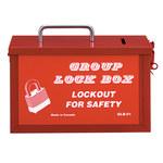 Honeywell Rojo Acero Caja de bloqueo grupal - HONEYWELL GLB01