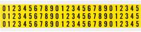 Brady Serie 34 34110 Negro sobre amarillo Paño de vinilo Kit de etiquetas de números - Interior - Ancho 11/32 pulg. - Altura 1/2 pulg.