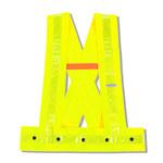 Ergodyne Glowear 8140HG Lima de alta visibilidad Mediano/Grande Poliéster Oxford Chaleco de alta visibilidad - 1 Bolsillos - 720476-20434