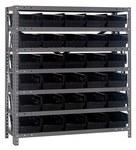 Quantum Storage 1839-104 400 lb Negro Gris Acero Bastidor fijo - longitud total 36 pulg. - Altura 39 pulg. - 30 gavetas - Gavetas incluidas - 00277