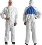 3M 4540+L Blanco Grande Polietileno/polipropileno Overoles desechables para trabajo y uso general - Para tamaño del pecho 39 a 43 in - 805070-00602