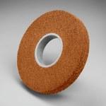 3M Scotch-Brite Óxido de aluminio Rueda esmeriladora de superficie - grano Fina grado - Accesorio Eje - Diámetro 14 in - Agujero Central 8 in - Grosor 2 in - 03311