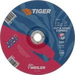 Weiler TIGER Óxido de aluminio Disco de corte y esmerilado - Diámetro 9 in - Agujero Central 7/8 in - Grosor 1/8 in - 57107