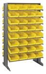 Quantum Storage 800 lb Amarillo Gris Acero Doble cara Bastidor de piso con persiana - longitud total 24 pulg. - Ancho 36 pulg. - Altura 60 pulg. - 64 - 02343