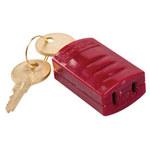 Brady Stopower Rojo ABS Bloqueo de enchufe eléctrico 65673 - Ancho 1.083 in - Altura 1.76 in - 754476-65673