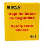 Brady Rojo sobre amarillo Carpeta de hojas de datos GHS y MSDS - SAFETY DATA SHEETS - Inglés/Español - 754473-70692