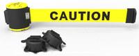 Estacas de banner Amarillo Barrera de banda magnética de montaje en pared - BANNER STAKES MH5001